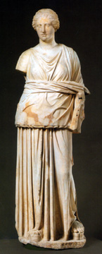 Hellenistic marble figure of a muse