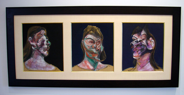 """Triptych: Three Studies of Henrietta Moraes"" by Bacon"