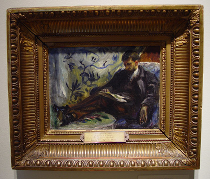 """Portrait of d'Edmond Maitre (Le Liseur)"" by Renoir"