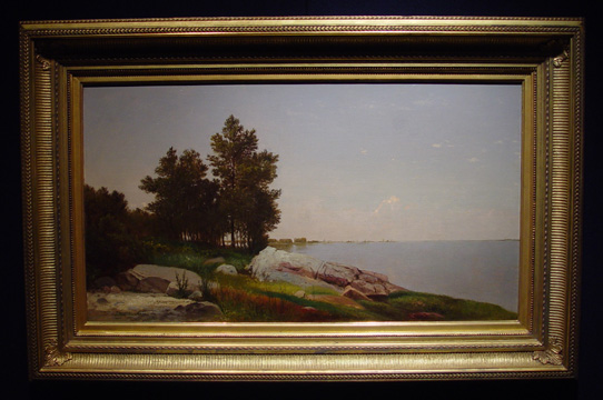 """Study on Long Island Sound at Darien, Connecticut"" by Kensett"