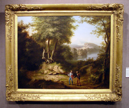 """Hunters in a Landscape"" by Thomas Cole"