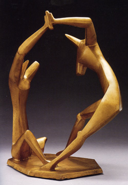 """Dancers, Version 3"" by Alexander Archipenko"