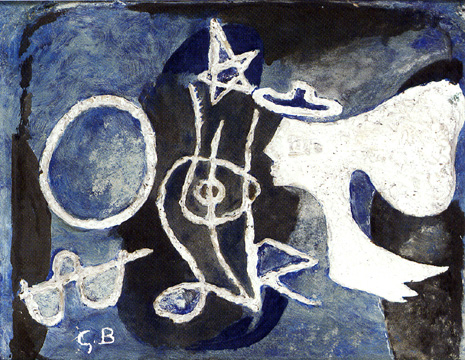 """Le profil"" by Georges Braque"