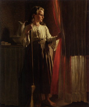 """Little Servant"" by John George Brown"