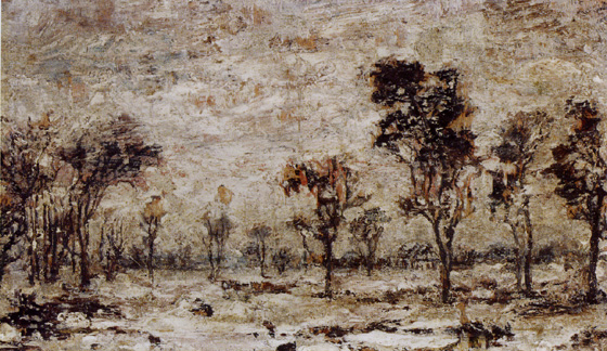 """Winter Landscape"" by Ralph Albert Blakelock"