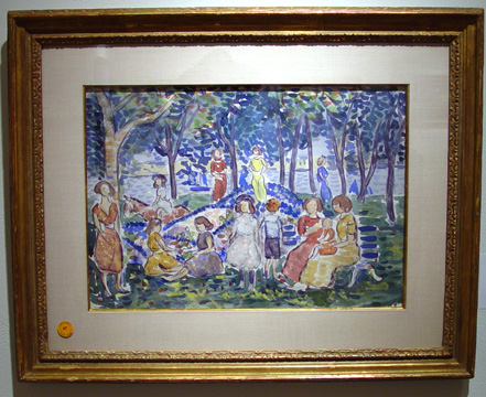 """Playtime at Salem Park, Massachusetts"" by Prendergast"