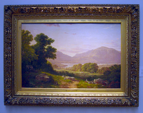 """Scene at Cold Spring, Hudson River"" by David Johnson"