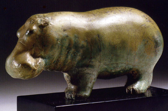 Egyptian faience hippopotamus