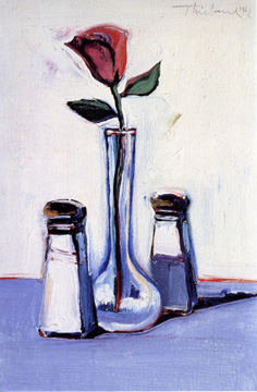 """Cafe Rose"" by Wayne Thiebaud"