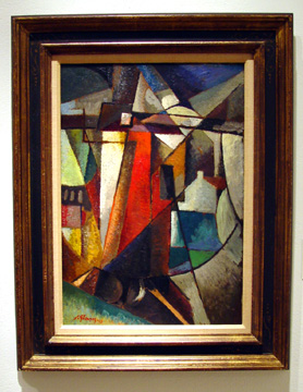 """Paysage au moulin à vent"" by Albert Gleizes"