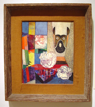 """Window with Flowers and Dog"" by Max Ernst"