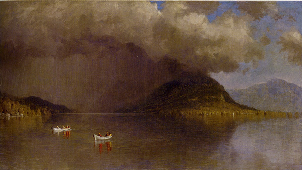 """Coming Rain on Lake George"" by Gifford"