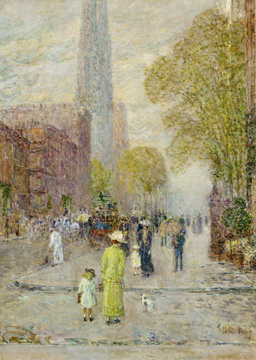 """Cathedral Spires, Spring Morning"" by Hassam"