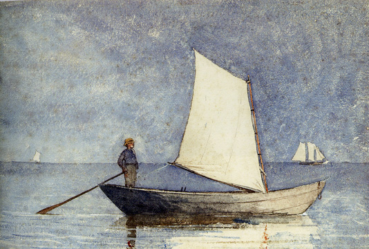 """Sailing a Dory"" by Homer"