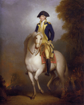 """Equestrian Portrait of George Washington"" by Rembrandt Peale"