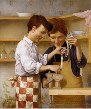 """Homemade Pasta"" by John Currin"