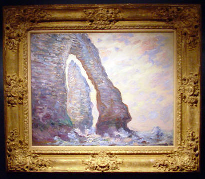 """L'Aiguille, à travers la Porte d'Aval"" by Monet"