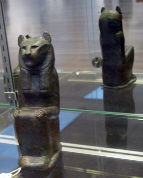 Bronze figure of a lion-headed goddess