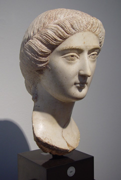 Roman marble portrait bust of Empress Faustina the Younger