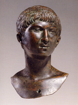 Roman Imperial bronze portrait head of Ptolemy of Mauretania