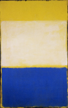"""No. 6 (Yellow, White, Blue Over Yellow on Gray)"" by Rothko"