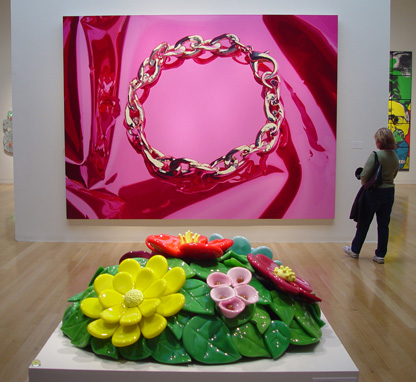 """Bracelet"" and ""Mound of Flowers"" by Jeff Koons"