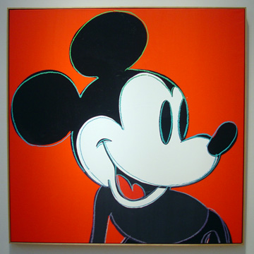 """Mickey Mouse (Myth Series)"" by Warhol"
