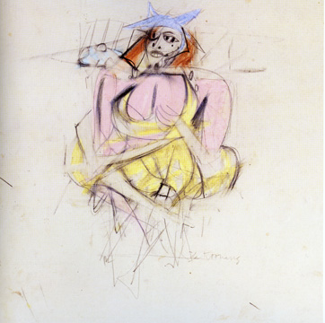 """Untitled (Woman)"" by de Kooning"