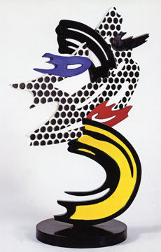 """Brushstroke Head III"" by Lichtenstein"