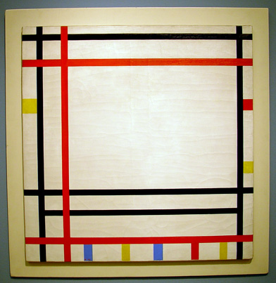 """New York 1941/Boogie-Woogie. 1941-42"" by Mondrian"