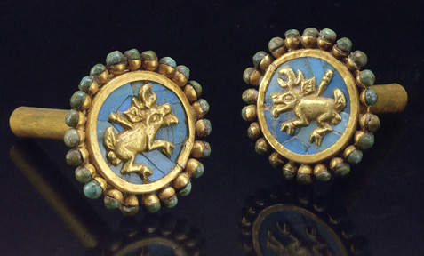 Moche ear ornaments