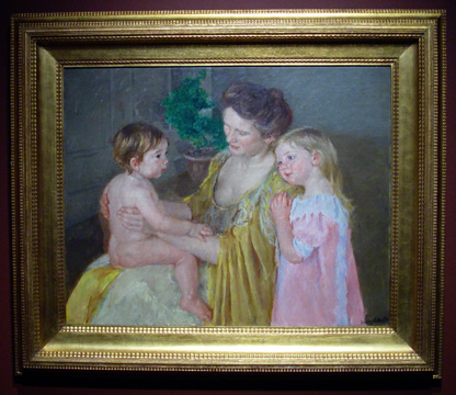 """Mother and Two Children"" by Cassatt"