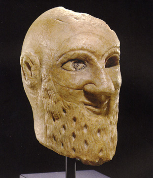 Mesopotamian head of a worshipper