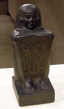 Black basalt statue of Wahibre