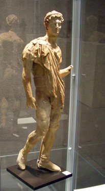Greek terracotta statue