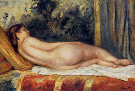 """Nu allongé sur un divan"" by Renoir"