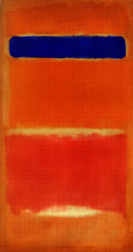 """Blue Over Red"" by Rothko"