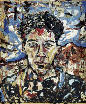 """Portrait of a Freedom Fighter"" by Schnabel"