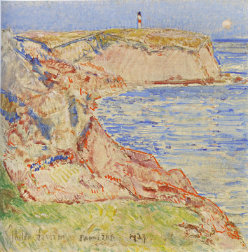 """Montauk Light"" by Hassam"