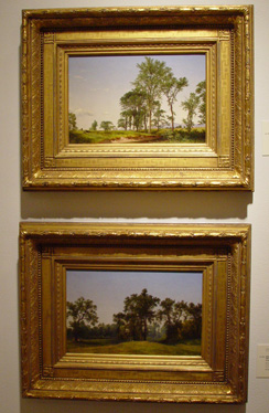 Two paintings of young elms by David Johnson