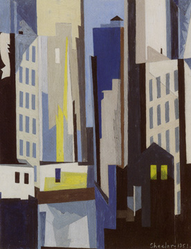"""View of New York"" by Sheeler"
