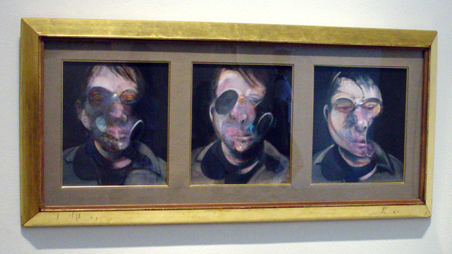 Three studies for self-portrait by Bacon