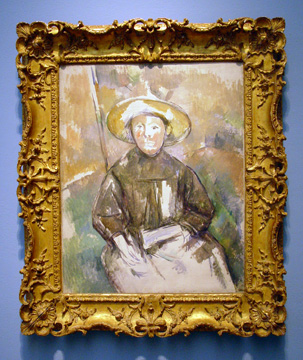 Child in Straw Hat by Cézanne