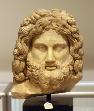 Roman head of an Olympian