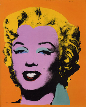 Orange Marilyn by Warhol
