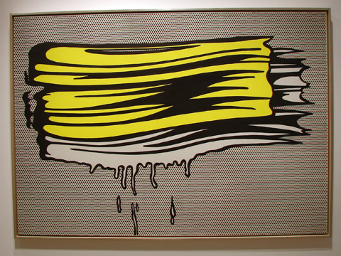"""Yellow and White Brushstrokes"" by Lichtenstein"