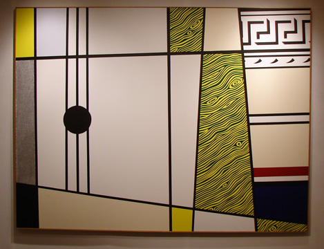 """Abstraction with Guitar"" by Lichtenstein"