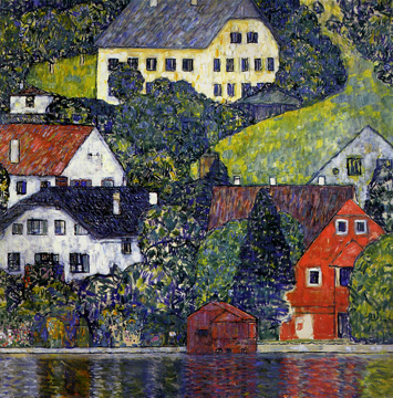 """Houses at Unterach on the Attersee"" by Klimt"