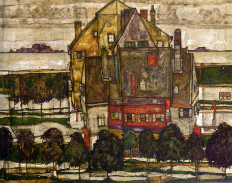double-sided work by Schiele