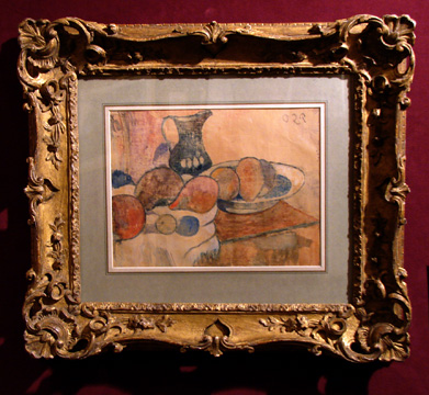 """Nature morte à la cruche et aux fruits"" by Gauguin"